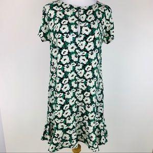 Stella McCartney Green Floral Dress Sz EU 40 US 8